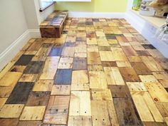 DIY Redoing a Floor With Free Pallet Wood !