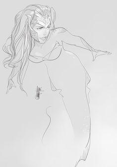 Queen Mera by Otto Schmidt *