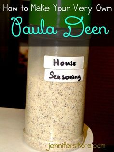 How to Make Your Very Own Paula Deen House Seasoning - Jen Around the World - seasonings - Paula Deans House Seasoning Salt, Pepper & Garlic powder. Homemade Dry Mixes, Homemade Spices, Homemade Seasonings, House Seasoning Recipe, Seasoning Mixes, Paula Deen Seasoning Recipe, Paula Deen Seasoned Salt Recipe, Hamburger Seasoning, Popcorn Seasoning