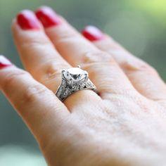 This unique engagement ring is all about those details, details, details!