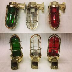 NAUTICAL SHIP MARINE NEW SOLID BRASS WALL SWAN PASSAGEWAY BULKHEAD LIGHT SET 3