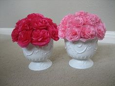 Paper carnations. I think I can keep these alive :)