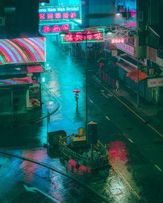 ITAP on a rainy night in Yau Ma Tei Hong Kong