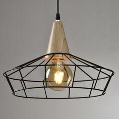 Lámpara de techo de metal negro Luma