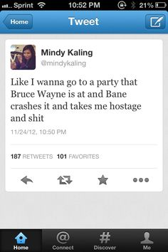 Mindy Kaling---haha, me too!