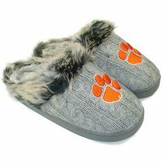 Clemson Tigers Ladies Knit Slippers