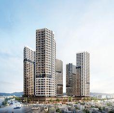 Bridges Architecture, Office Building Architecture, Architecture Visualization, High Rise Apartments, Mix Use Building, Social Housing, Steel Buildings, Facade Design, Skyscrapers