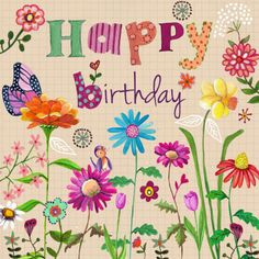 Happy Birthday Wiches : QUOTATION - Image : Birthday Quotes - Description Wild flowers bird and butterflyPlease pray that God's healing hand touches Hippie Birthday, Happy Birthday Art, Happy Birthday Pictures, Happy Birthday Greetings, Birthday Fun, Birthday Logo, Birthday Blessings, Birthday Wishes Quotes, Birthday Messages