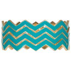 LOVE!!    $39.00 Kirra Tate Chevron Turquoise Bracelet Set from @Sarah Nasafi Grayce
