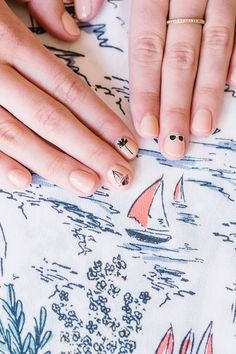 LC Lauren Conrad inspired manicure by Olive & June