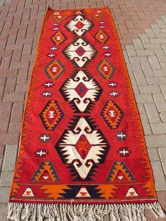 Vintage Anatolian Turkish Kilim Runner Rug Oriental Carpet 36 '' x 92 ''   eBay