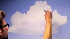 Paint Clouds in a Room ::   Mural.Joe    .. 'Popular Mural .&. Paint' Tutorials .. [.'200'..+Playlist.] ..  #Mural
