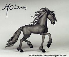 Equine Art by Malem Glass Artist Friesian, Equine Art, Horse Art, Glass Jewelry, 3 D, Glass Art, Favorite Things, Sculptures, Creatures