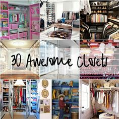 Awesome Closets! @ Home Design Pins