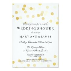 Couple's Wedding Shower Gold Foil Glitter Lights