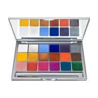Kryolan 1049 Shimmering Vision 18 Color Palette