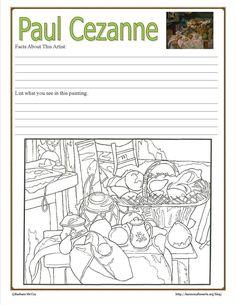 Intimer Impressionismus - Paul Cezanne - Harmony Fine Arts - Cezanne Notebook Page Intimer Impressionist La mejor imagen sobre diy crafts para tu gusto Estás b - Paul Cézanne, High School Art, Middle School Art, Art History Lessons, Art Lessons, Documents D'art, Art Adulte, Programme D'art, Arte Elemental