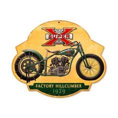 Excelsior Super x Motorcycle 17 x 14 Vintage Style Metal Sign FRC047 USA | eBay