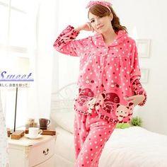 Sweet Princess - Pajama Set: Dotted Fleece Top + Pants