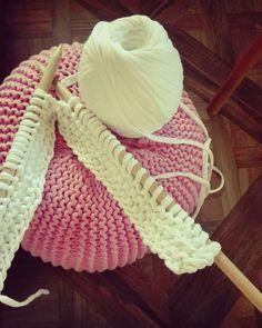 Knot pouf #knit #pouf #handmade