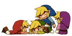 Four Swords... cute chibi link's