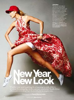 new year, new look: karlie kloss by patrick demarchelier for us glamour january 2015