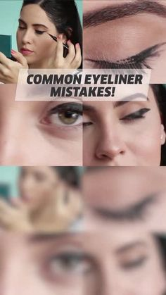 You've probably made some of these common eyeliner mistakes but there's always a way to fix it! [Video] in 2020 Smokey Eye Makeup Tutorial, Eye Makeup Steps, Eyeliner Tutorial, No Eyeliner Makeup, Black Eyeliner, Makeup Black, Hair Makeup, How To Apply Eyeliner, Winged Eyeliner