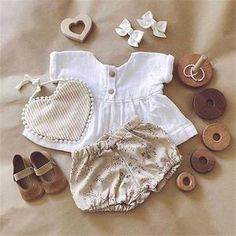Emmababy Newly Summer Infant Baby Girl Newborn Cotton Linen Outfit Set Fashion Little Girls Button Top+Shorts Girls Summer Outfits, Short Outfits, Toddler Outfits, Girl Outfits, Shirts & Tops, Baby Girl Fashion, Toddler Fashion, Newborn Fashion, China
