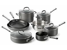 12-pc. Simply Calphalon Nonstick Cookware Set by Calphalon at Cooking.com