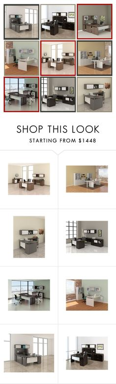 """""""Modern Desk Configurations from Mayline"""" by ofdeals on Polyvore featuring Mayline, modern, office, furniture, interiordesign and moderndecor"""