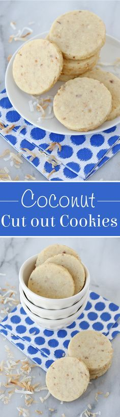 These Coconut Cut Out Cookies are delicious as is, and are the perfect canvas for decorating too!