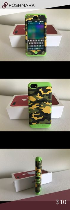 2 IPhone 5 cases - Cases only -pre owned 1st 4 pictures are 1 case....next 2 are same case Accessories Phone Cases