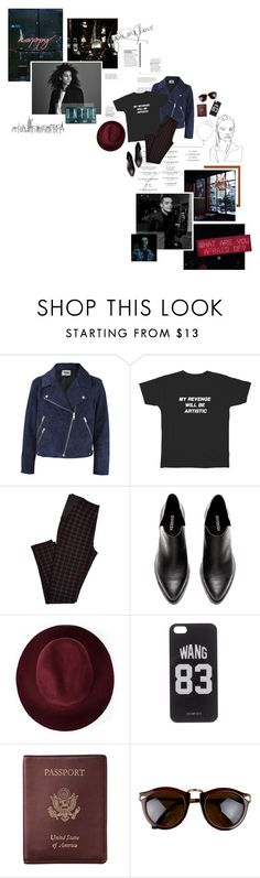 """""""You are love."""" by sarahstardom ❤ liked on Polyvore featuring Acne Studios, Redopin, LES (ART)ISTS, Royce Leather and Topshop"""