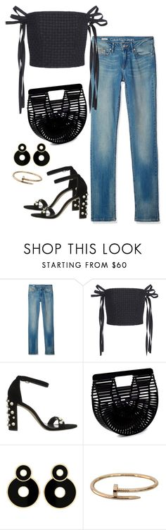 """Untitled #2319"" by andreagm ❤ liked on Polyvore featuring Calvin Klein, Adeam, Stuart Weitzman, Cult Gaia and Cartier"