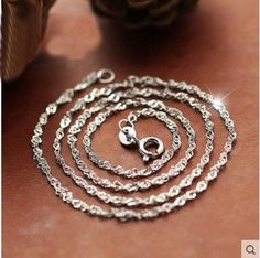 Wholesale Fashion 925 Solid Silver lots 2.25mm 50 pcs Chain Necklace 18 inch Hot #Unbranded #Chain