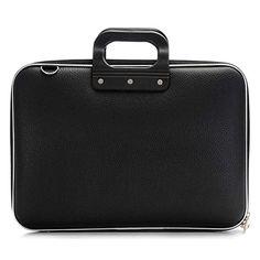 "Style Homez Stylish Unisex Hard Shell Briefcase Laptop Bag 15"" with Strap, Black-$15"