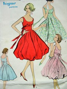 RARE  1950s Cocktail Party Dress with Lantern by anne8865 on Etsy, $38.00