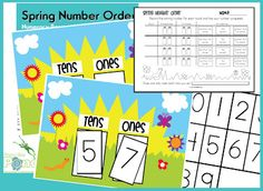Spring time number Order and place value.  Great for a counting or number center!  Love it!  And free!
