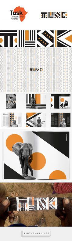 Brand New: New Logo and Identity for Tusk Conservation Awards by The Partners... - a grouped images picture - Pin Them All