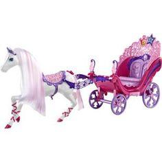 Carruagem Barbie A Princesa e a Pop Star - Mattel, linda carruagem com cavalo mágico e musical do novo filme Barbie A Princesa e a Pop Star. Um passeio pelo mundo encantado dos sonhos.