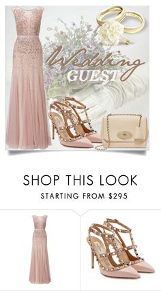 """Spring Formal: Wedding Guest"" by karolineacc ❤ liked on Polyvore featuring Adrianna Papell, Valentino, Mulberry and springformal"