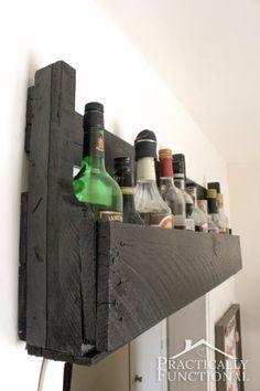 Kitchen Tour: Turn a pallet into a shelf to create extra storage space