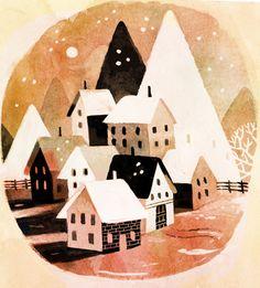 Village sous la neige - Matt Forsythe