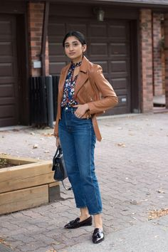 fall transition outfit, everlane burgundy patent loafers