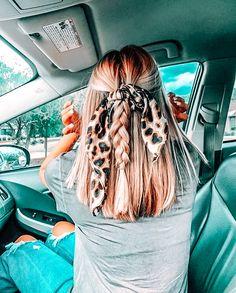Sporty Hairstyles, Teen Hairstyles, Scarf Hairstyles, Braided Hairstyles, Pretty Hairstyles For School, Cute Everyday Hairstyles, Cute Simple Hairstyles, Hairdos, Hair Inspo