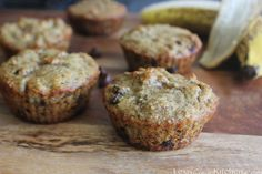 Grain-free Chocolate Chip Banana Muffins | Lexiscleankitchen.com