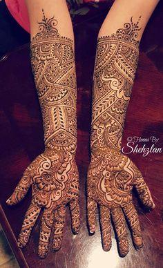 Henna Tattoo Designs Arm, Henna Designs Feet, Full Hand Mehndi Designs, Mehndi Designs For Girls, Beautiful Henna Designs, Mehndi Art Designs, Hand Designs, Latest Bridal Mehndi Designs, Wedding Mehndi Designs