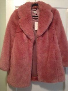 Whistles Kumiko Pink Faux Fur Coat Size Medium Whistles