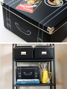 Turn Storage Boxes into Vintage Suitcases | 20 DIY Closet Organization Ideas for The Home | DIY Closet Storage Ideas for Small Spaces
