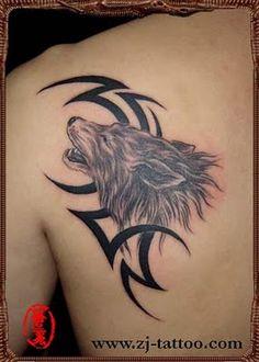 Free Tattoo Designs : Wolf totem tattoo on the back Wolf Tattoo Back, Tribal Wolf Tattoo, Wolf Tattoo Sleeve, Wolf Tattoos, Tribal Tattoos, Sleeve Tattoos, Nice Tattoos, Interesting Tattoos, Amazing Tattoos